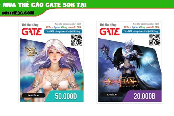 Hướng dẫn mua thẻ Gate 50k trên internet tiết kiệm và tiện lợi