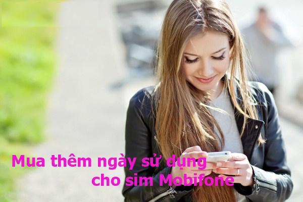 Mua thêm ngày sử dụng bằng tài khoản khuyến mãi Mobifone