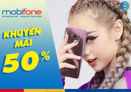 """Khuyến mãi """"hot"""" Mobifone tặng 50% giá trị thẻ nạp ngày 30/9/0017"""