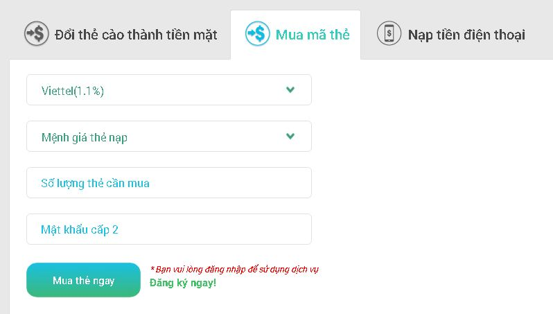 Hướng dẫn đổi thẻ Zing sang thẻ Viettel