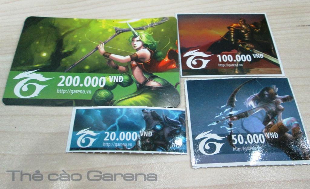 Chi tiết các mệnh giá thẻ game Garena