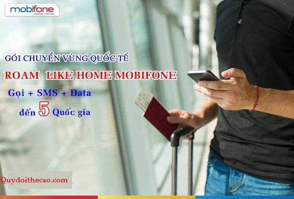 Gói cước CVQT của Mobifone – gói Roam like home Mobifone rẻ đến bất ngờ!