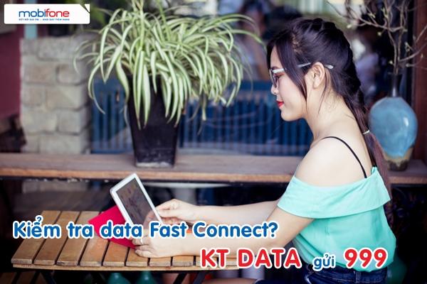 Hướng dẫn kiểm tra dung lượng 3G fast connect mobifone