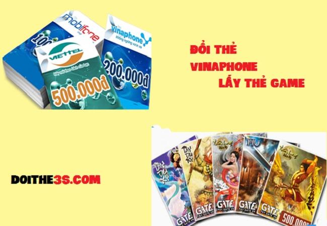 Cách đổi thẻ Vinaphone lấy thẻ game.