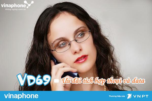 Đăng ký gói VD69 Vinaphone để truy cập 3G, gọi thoại tẹt ga cả tháng