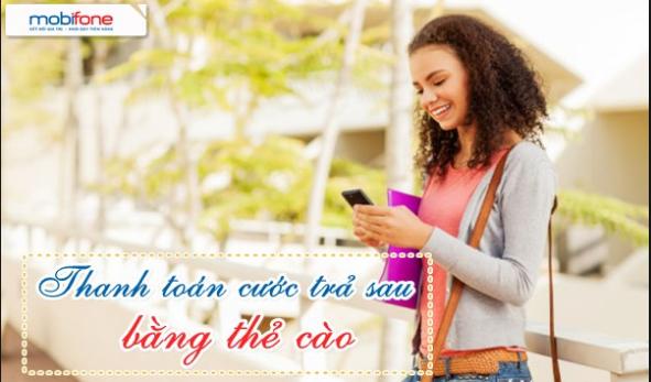 Hướng dẫn cách thanh toán cước trả sau mobifone bằng nạp thẻ