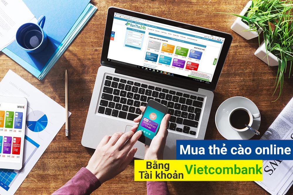 Hướng dẫn mua thẻ cào Viettel online qua Vietcombank đơn giản nhất
