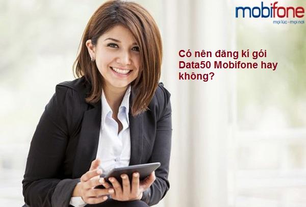 Hướng dẫn cách đăng kí gói Data50 Mobifone