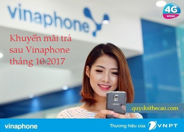 Thông tin khuyến mãi trả sau Vinaphone trong tháng 10.2017