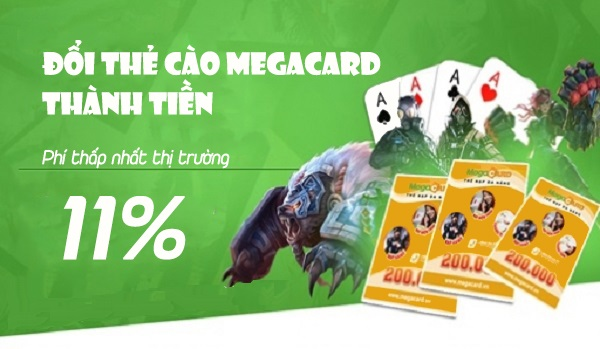 Làm sao để đổi thẻ cào Megacard ra tiền mặt nhanh chóng nhất?
