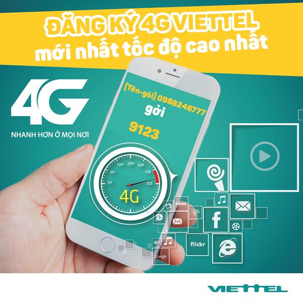 Hướng dẫn đăng ký 4g Viettel với ưu đãi data hấp dẫn