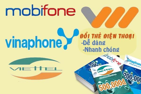 Hướng dẫn đổi thẻ cào điện thoại mobifone ra tiền mặt trực tuyến
