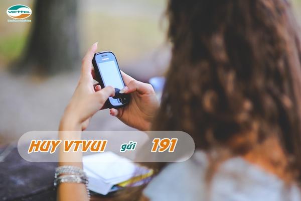 Hướng dẫn nhanh cách hủy gói VTVUI  Viettel nhanh nhất
