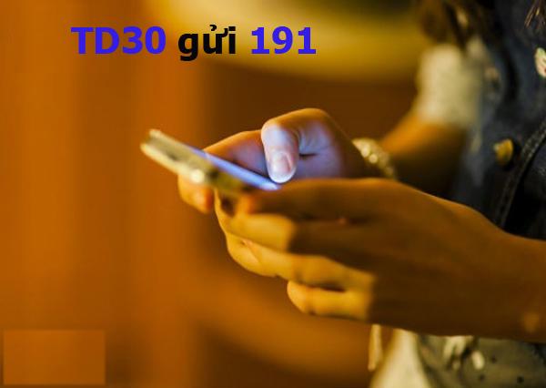 Hướng dẫn cách đăng ký gói TD30 Viettel nhận ngay 30GB