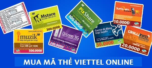 Cách mua mã thẻ Viettel online đơn giản nhất