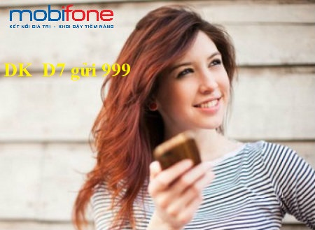 Hướng dẫn cách đăng kí gói D7 mobifone cực kì ưu đãi