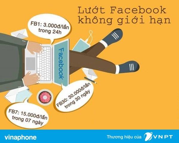 Lướt facebook tẹt ga với gói cước Data Facebook Vinaphone