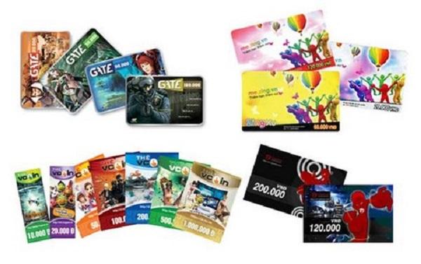 Các loại thẻ game phổ biến trên thị trường hiện nay