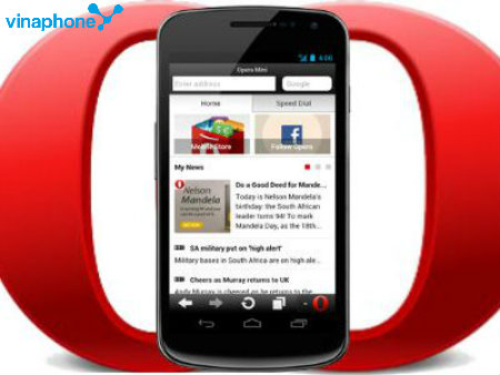 Hướng dẫn đăng ký gói cước Opera Mini Vinaphone