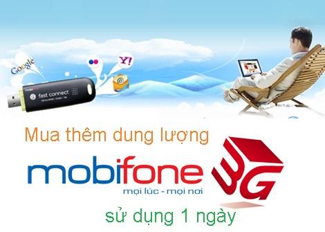 Làm thế nào để mua thêm dung lượng 3G Mobifone sử dụng 1 ngày?