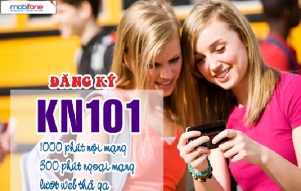Khuyến mãi gói Kết nối khi đăng ký gói cước KN101 Mobifone