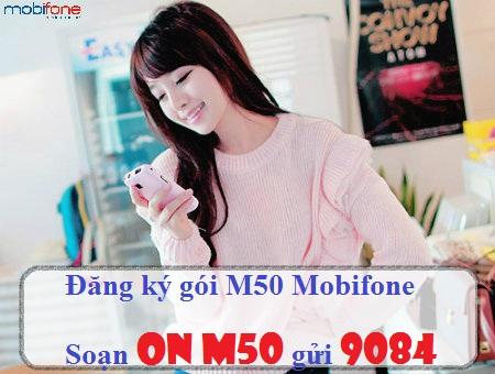 Đăng ký ngay gói cước M50 của Mobifone chỉ với 50.000 đồng/tháng!