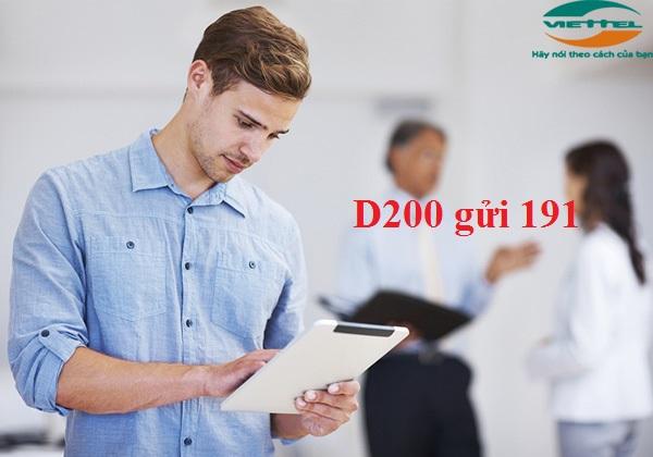 Hướng dẫn nhanh cách đăng kí gói D200 Viettel ưu đãi nhất