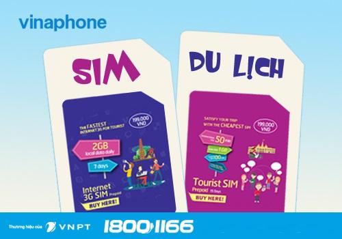 Sim dành cho khách du lịch Vinaphone với ưu đãi cực hot!