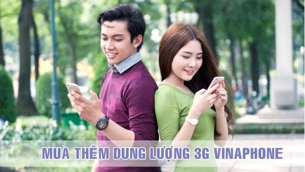 Hướng dẫn mua thêm data 3G Vinaphone giới hạn dung lượng