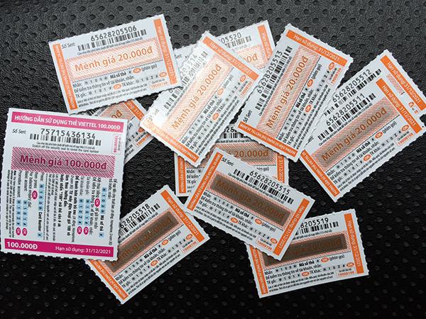 Đổi thẻ cào sang tiền mặt phí thấp