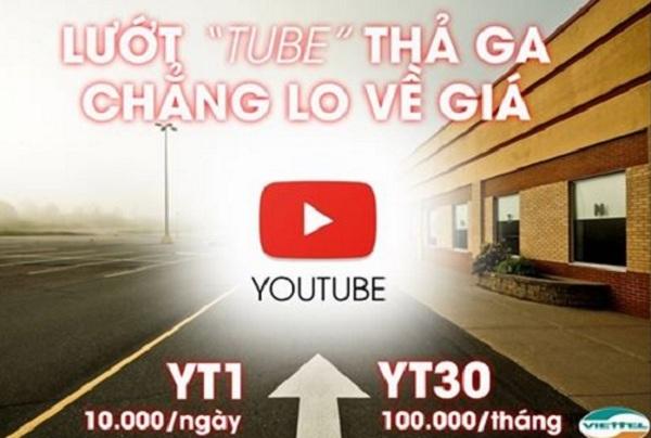 Xem video thả ga với gói cước Youtube Viettel