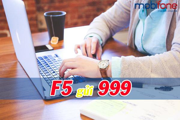 Đăng ký gói cước 3G F5 Mobifone chỉ với 1 tin nhắn