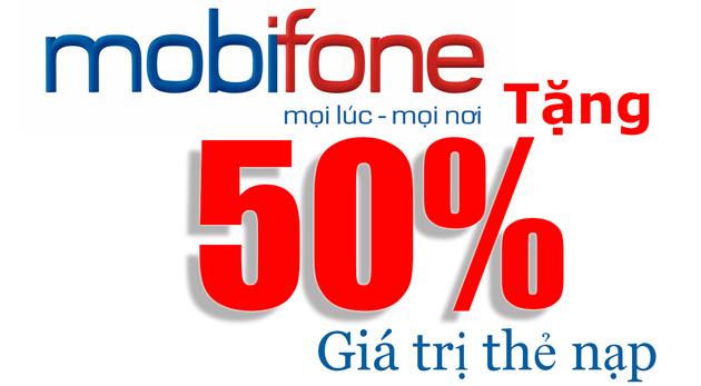 Khuyến mãi 50% Mobifone khi nạp thẻ qua ứng dụng AutoPay