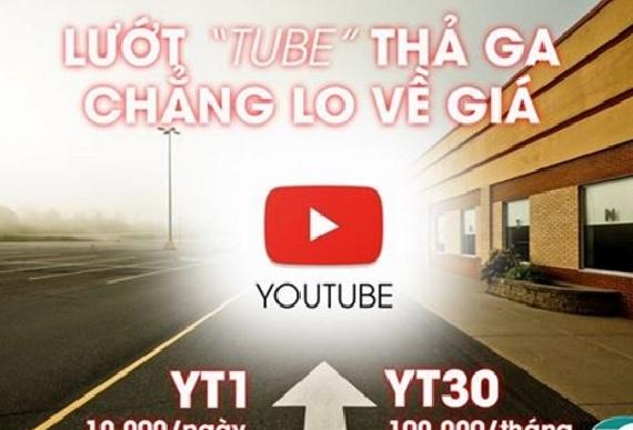 Tiện ích với gói cước Youtube YT30 Viettel