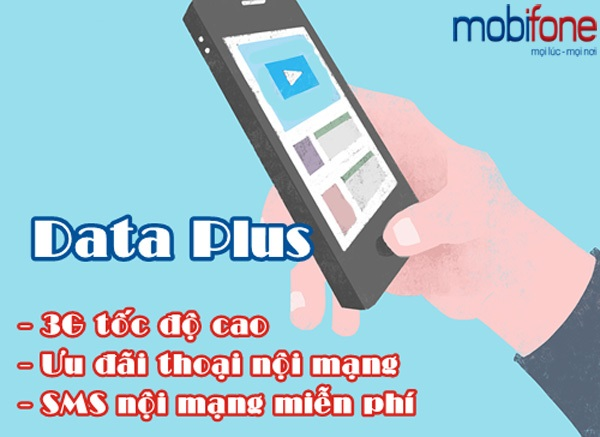Nhận ngay 100 phút, 100SMS khi đăng ký Data Plus Mobifone