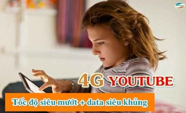 Cú pháp đăng ký các gói cước 4G Youtube Viettel