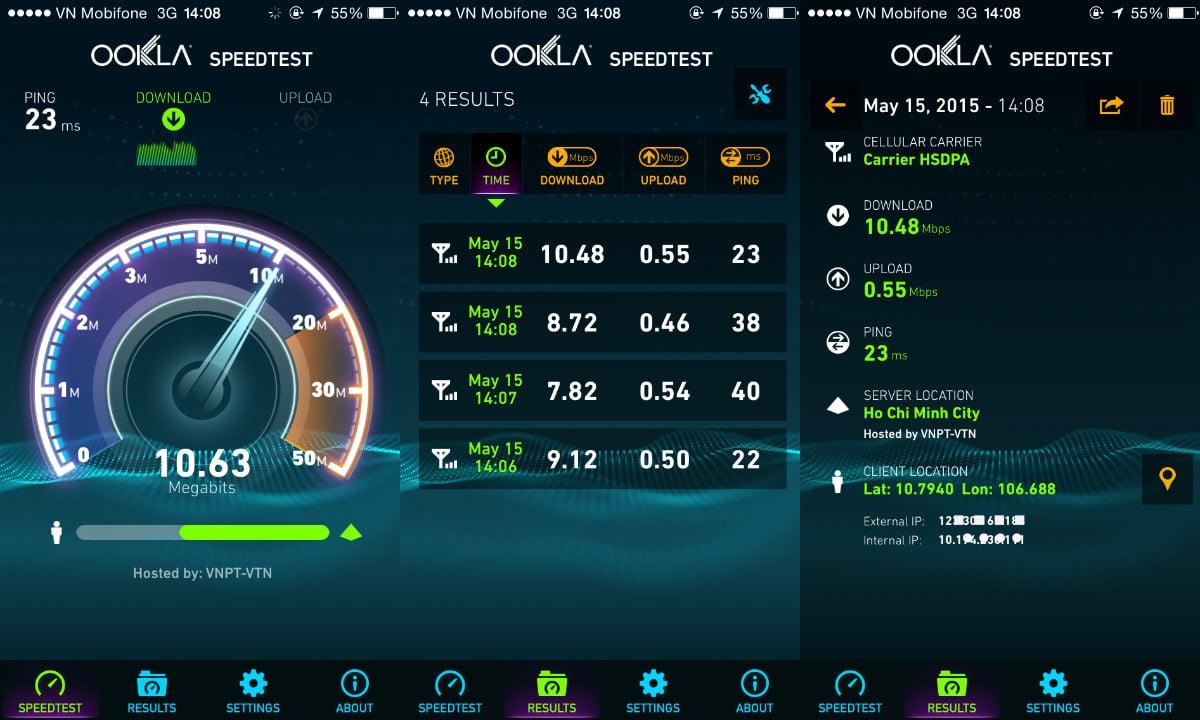 Tốc độ 3G vinaphone là bao nhiêu?