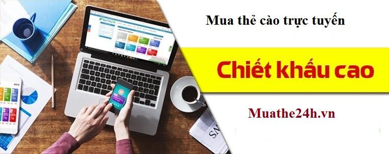 Hướng dẫn cách mua thẻ cào trực tuyến tại muathe24h.vn