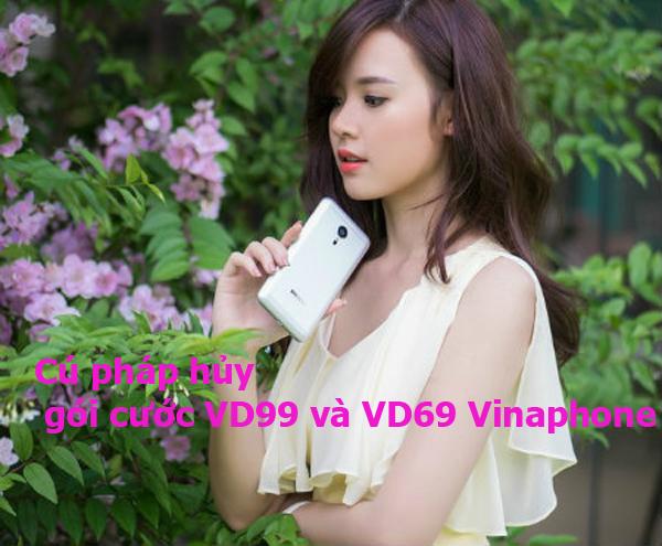Cú pháp hủy gói cước VD99 và VD69 Vinaphone ngắn gọn nhất
