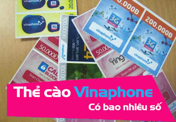 Check in dãy Seri và mã thẻ cào Vinaphone có bao nhiêu số?