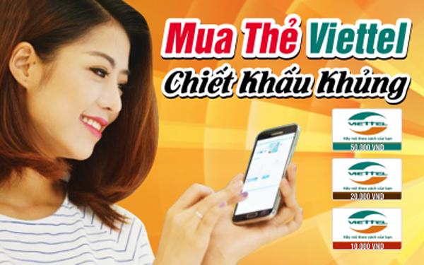Hướng dẫn mua thẻ điện thoại viettel nhanh nhất tại Muathe24h.vn