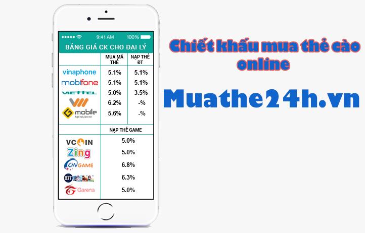 Hướng dẫn mua thẻ cào online tại Muathe24h.vn