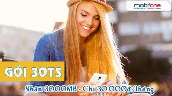 Cú pháp đăng ký gói cước 3G 30TS Mobifone