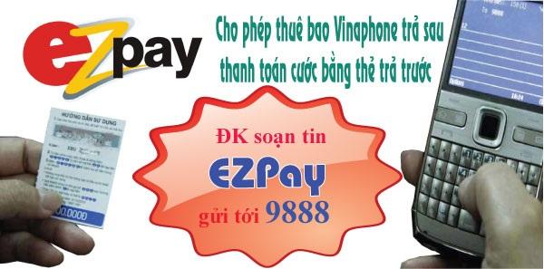 Hướng dẫn đăng ký dịch vụ Ezpay cho thuê bao Vinaphone trả sau