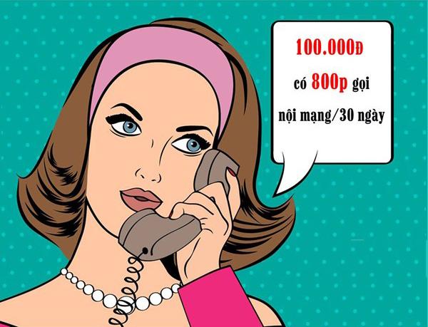 Gọi nội mạng 800 phút chỉ 100k khi đăng ký gói N100 Viettel