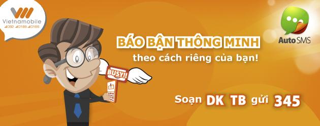 Hướng dẫn cách đăng ký dịch vụ tin nhắn báo bận Vietnamobile