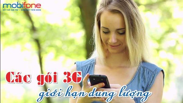 Tổng hợp những gói cước 3G mobifone giới hạn dung lượng