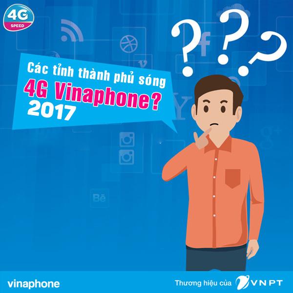 Những vùng phủ sóng 4G Vinaphone cập nhật 2017