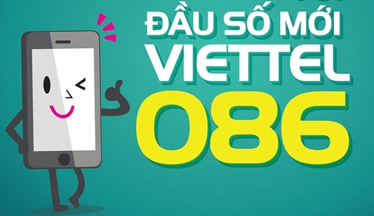 Thông tin mới nhất về đầu số 086 Viettel