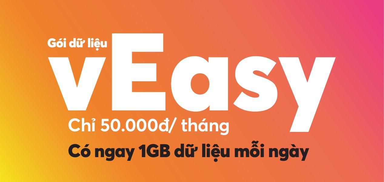 Ưu đãi khủng nhận ngay 30GB và cộng tiền sử dụng với gói cước vEasy Vietnamobile